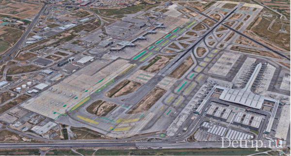 Аэропорт Барселоны с верху