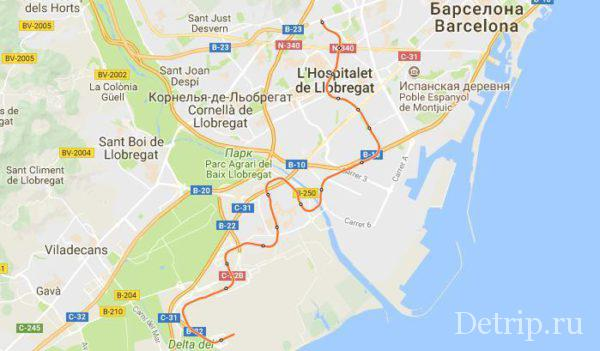 как добраться до аэропорта Барселоны на метро