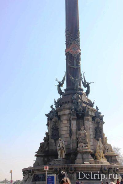 Украшение памятника Колумбу