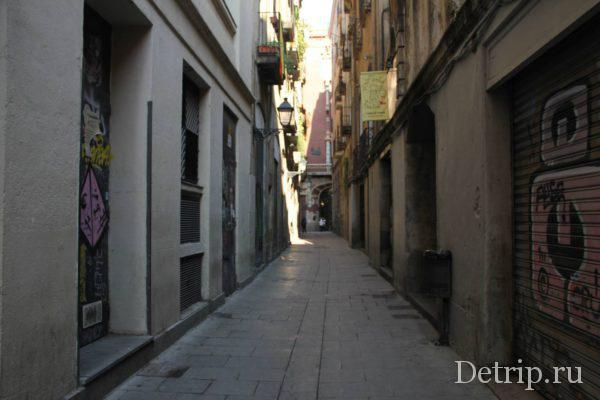 узкие улочки готического квартала