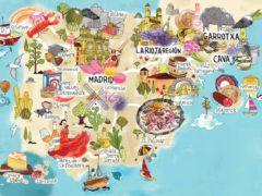 Подробная карта Испании с курортами и городами на русском языке