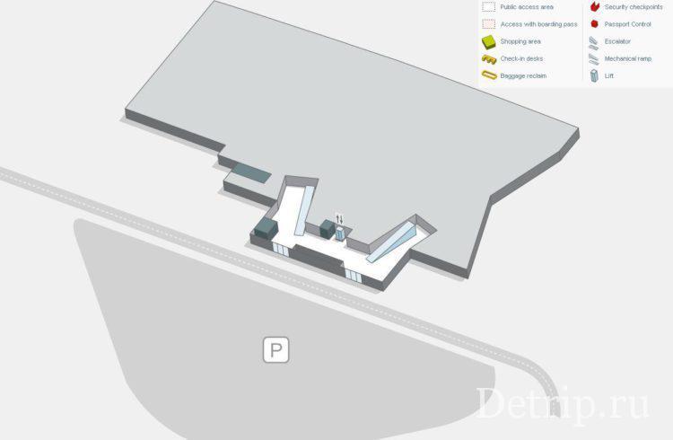 схема аэропорта тенерифе северный этаж -1