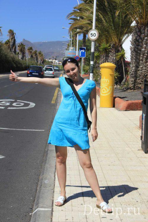 поездка на автобусе на Тенерифе