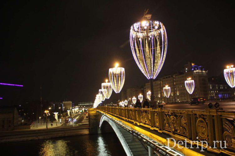Подсветка на мосту