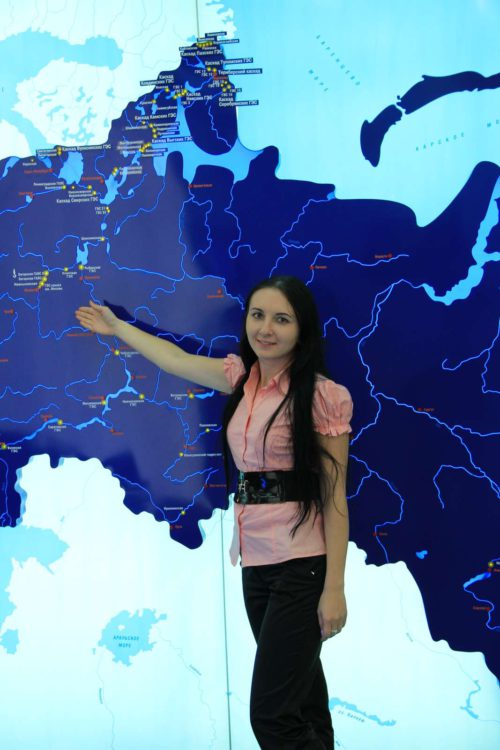 Карта гидроэнергетики России